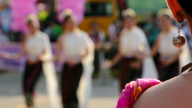 the girl watch thai dance - laos stock videos & royalty-free footage