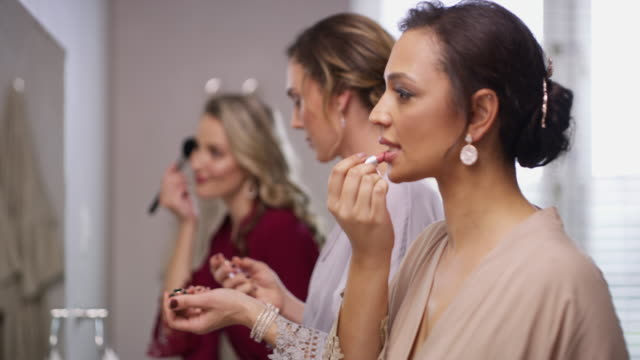 the glam up before the big day - caucasian appearance stock videos & royalty-free footage