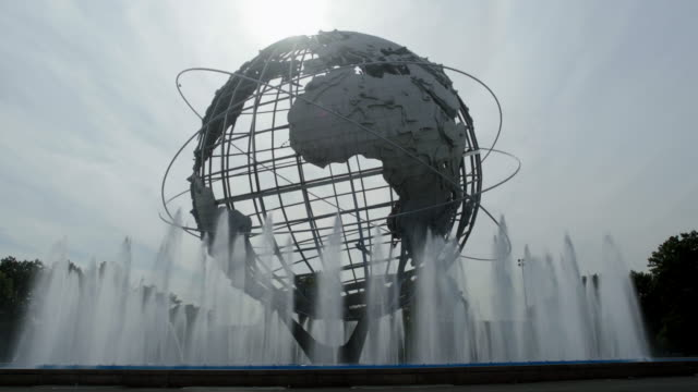 vídeos de stock, filmes e b-roll de the globe at flushing meadows corona park - flushing meadows corona park