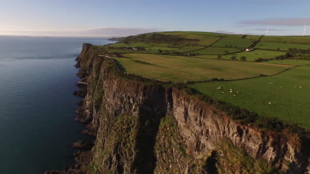 the gobbins path 2015 04 - cliff stock videos & royalty-free footage