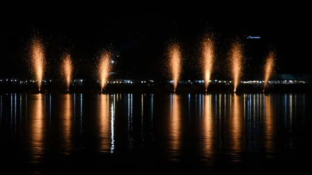 Das Gold gemahlen Feuerwerk Bangkok, Thailand