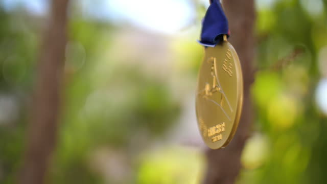 the gold medal of sport, 4k - cup stock videos & royalty-free footage