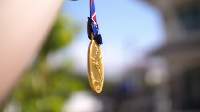 the gold medal of sport, 4k - gold medalist stock videos & royalty-free footage