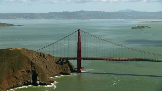 the golden gate bridge in marin county. - marin stock videos & royalty-free footage