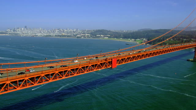 the golden gate bridge spans san francisco bay. - san francisco bay stock videos and b-roll footage