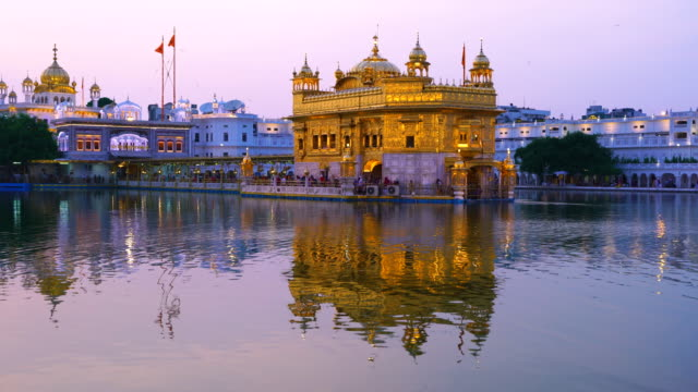 The Golden Temple. Sikh temple in the Indian town of Amritsar. In India it is called Harmandir Sahib and it is close to the Pakistan border. Punjab State, India, Asia