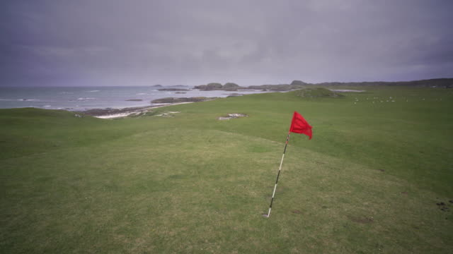 the golf course on the island of iona, scotland. - pilgrimage stock videos & royalty-free footage