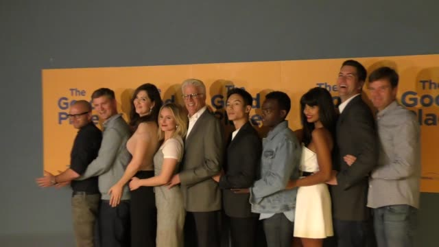 'the good place' cast at nbc's 'the good place' fyc @ ucb on june 12 2017 in los angeles california - cast member stock videos & royalty-free footage
