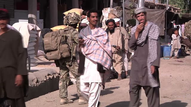 the governor of nade ali district in afghanistan has told sky news in an exclusive interview that his country will never forget the sacrifices made... - regiment stock videos & royalty-free footage