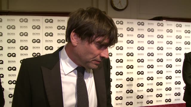the gq men of the year awards 2015:; alex james interview sot - what he loves about being a bloke - very much in touch with feminine side, brilliant... - hair band stock videos & royalty-free footage