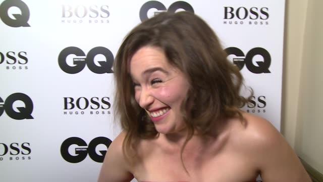 Stuart Broad interview SOT His James Bond impression / Emelia Clarke as interviewed SOT / Emelia Clarke interview SOT winner's face / what she'll do...