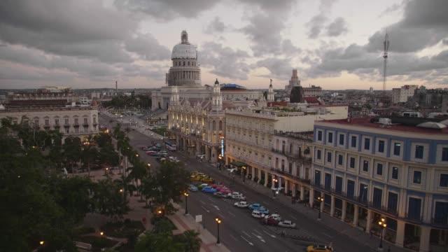 vidéos et rushes de the gran teatro de la habana and el capitolio at sunset, havana, cuba, west indies, caribbean, central america - cuba