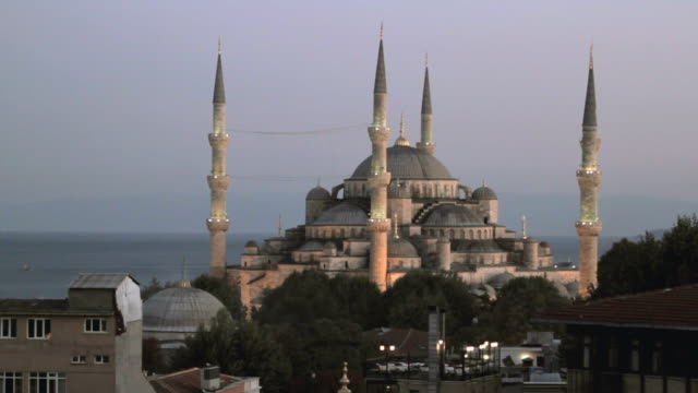 ws the grand 16th century suleymaniye mosque / istanbul, turkey - suleymaniye mosque stock videos and b-roll footage