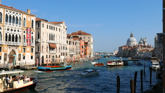 the grand canal in venice italy - canal stock videos & royalty-free footage