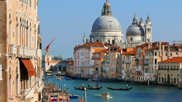 the grand canal in venice italy - venice italy stock videos & royalty-free footage