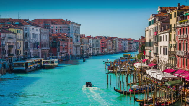 the grand canal in venice - venice italy stock videos & royalty-free footage