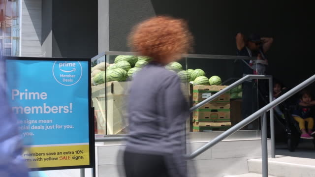 the grand opening of a whole foods market location in burbank california us on wednesday june 20 2018 - whole foods market stock videos and b-roll footage