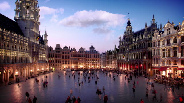 the grand place brussels, belgium - courtyard stock videos & royalty-free footage
