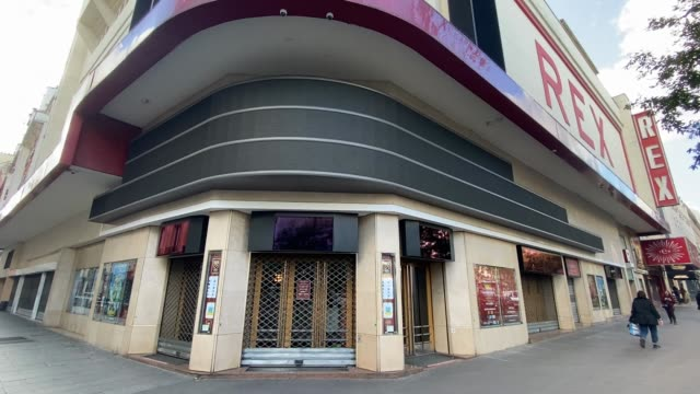 the grand rex cinema is seen closed during the second national lockdown as part of the covid-19 measures to fight a second wave of the coronavirus... - film industry stock videos & royalty-free footage