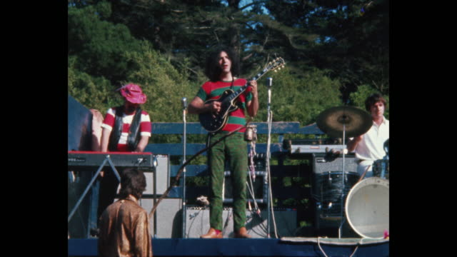 The Grateful Dead plays at the Human BeIn Summer Solstice Hippies and Rock and Roll in Golden Gate Park