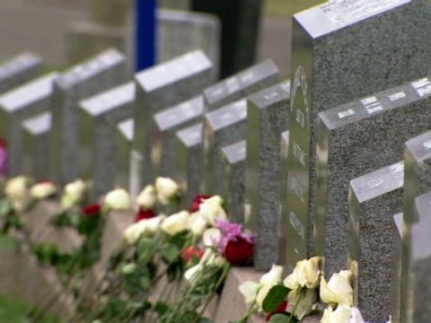 the graves of those lost in the sinking of the titanic - centesimo anniversario video stock e b–roll