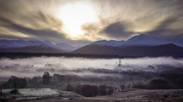 the great glen - time lapse - scotland stock videos & royalty-free footage
