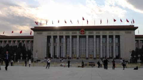 the great hall of the people,beijing,china - chinese culture stock-videos und b-roll-filmmaterial