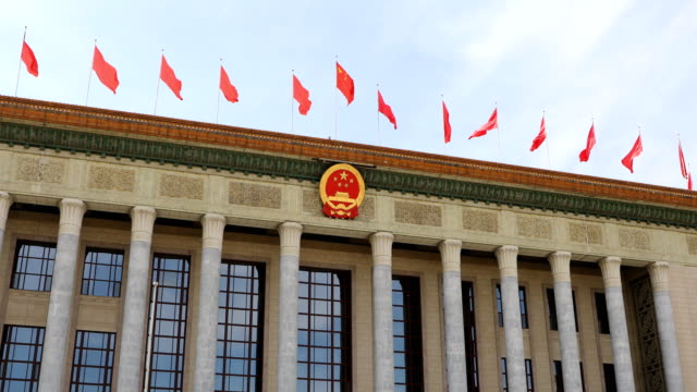 the great hall of the people,beijing,china - tiananmen square stock videos and b-roll footage
