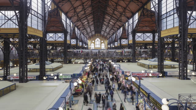 the great market hall in budapest, hungary. - traditionally hungarian stock videos & royalty-free footage