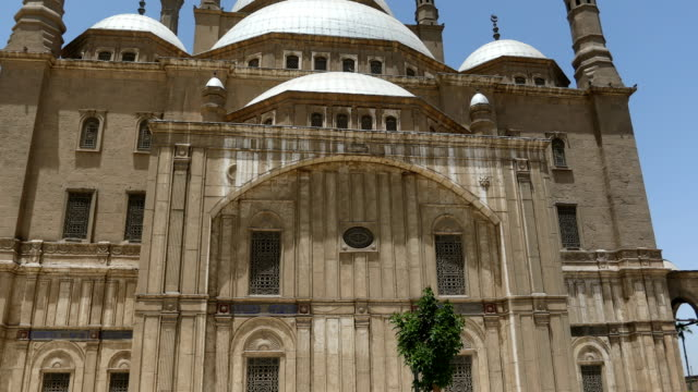 the great mosque of muhammad ali pasha in the citadel of cairo in egypt - dome stock videos & royalty-free footage