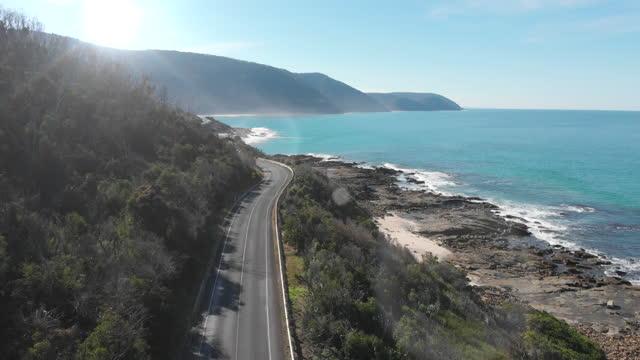 the great ocean road, australia - coastal feature stock videos & royalty-free footage