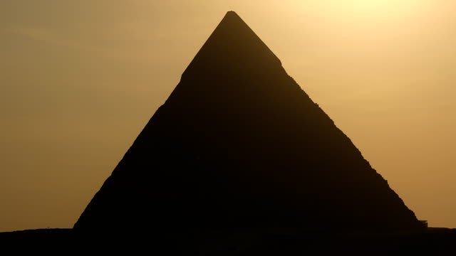 The Great pyramid on sunset in Giza, Egypt