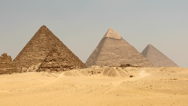 the great pyramid time lapse on sunset in giza, egypt - egypt stock videos & royalty-free footage