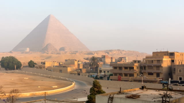 The Great pyramid with blue sky in Giza, Egypt