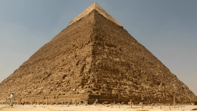 the great pyramid with camel in giza, egypt - monument stock videos & royalty-free footage