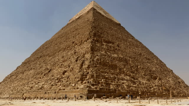 The Great pyramid with camel in Giza, Egypt