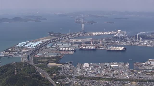 AERIAL, The Great Seto Bridge, Kagawa, Japan