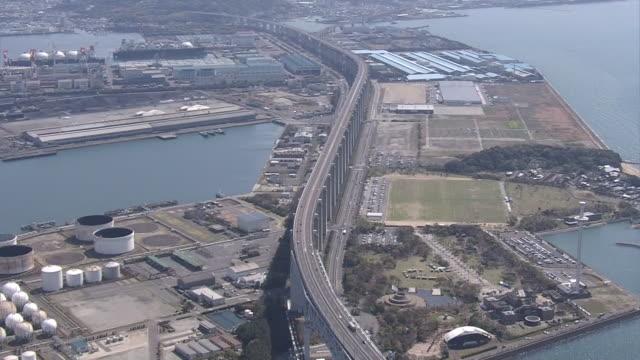 aerial, the great seto bridge, kagawa, japan - biggest stock videos & royalty-free footage