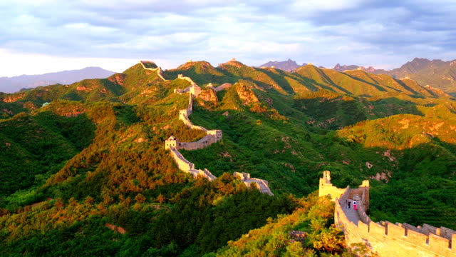 the great wall aerial photography - caucasus stock videos and b-roll footage