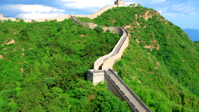 the great wall aerial photography - great wall of china stock videos & royalty-free footage