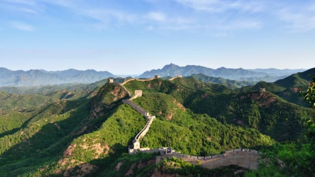 4K: The Great Wall at Dawn To Day Time Lapse, China