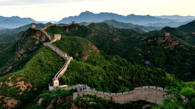 the great wall at dawn to day time lapse, china - great wall of china stock videos & royalty-free footage