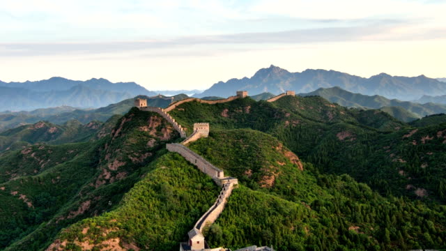 The Great Wall at Dawn To Day Time Lapse, China