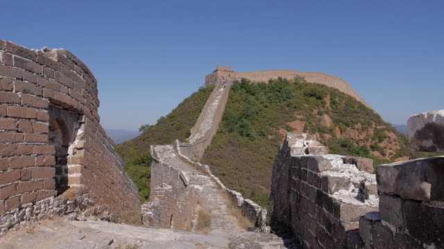 the great wall, hebei, china - castle wall stock videos and b-roll footage