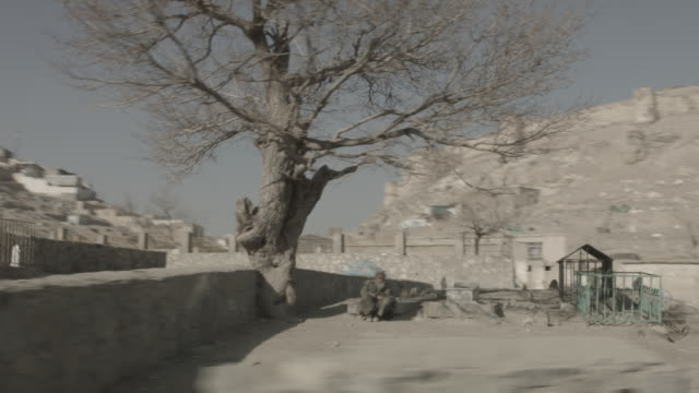 the great wall of kabul city and graveyard - kabul stock videos & royalty-free footage