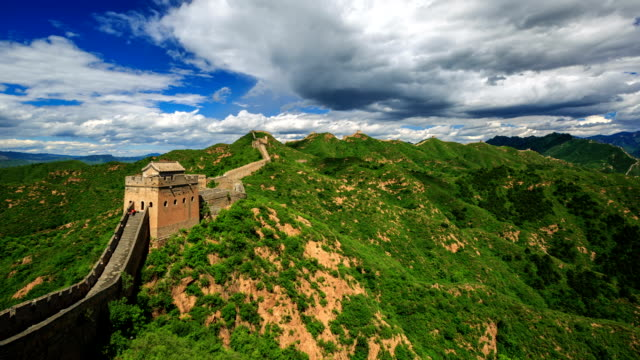 T/L WS HA The Great Wall under rolled clouds / Beijing, China