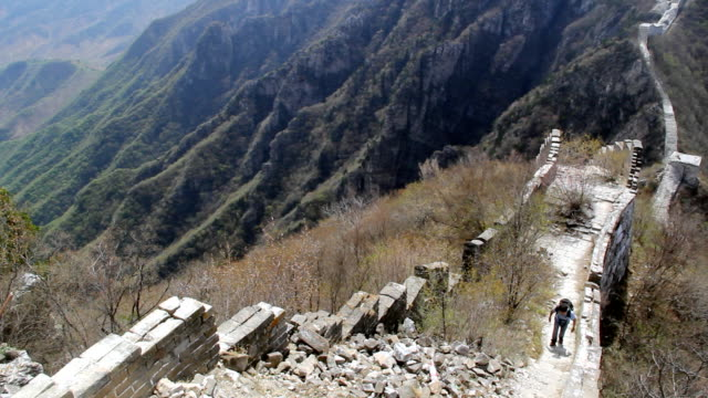 the great wall - great wall of china stock videos & royalty-free footage