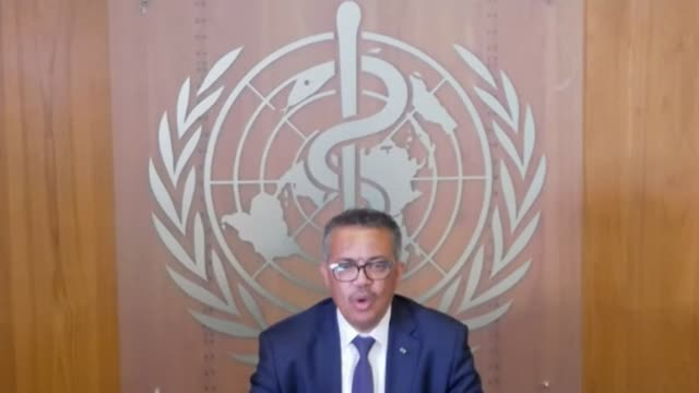 """the greatest threat from the covid-19 pandemic is not the coronavirus itself but a """"lack of global solidarity"""" in confronting it, the world health... - organised group stock videos & royalty-free footage"""