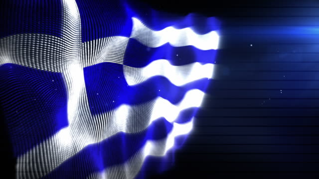 the greek flag - background loop (full hd) - greek flag stock videos & royalty-free footage
