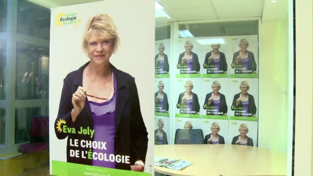The Green candidate in France's presidential election Eva Joly was hospitalised overnight after a fall on Sunday amid fears a serious injury to her...